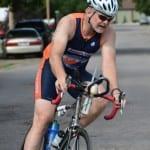 Kevin Detwiler flying the orange and blue.