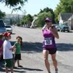 Wendy Sitter sprinting in