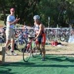 Van Buskirk first onto bike