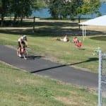 Andy Drobeck 2nd off bike